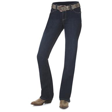 Wrangler Women's Cowgirl Cut Ultimate Riding Jeans, Cash, ON Wash