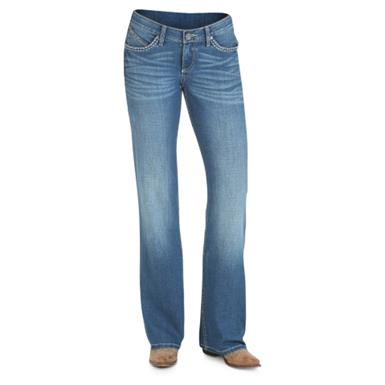 Wrangler Women's Cowgirl Cut Ultimate Riding Jean, Shiloh, Medium Blue