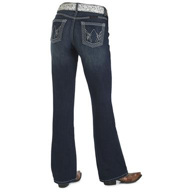 Wrangler Women's Cowgirl Cut Ultimate Riding Jean, Shiloh, Talk of the Town