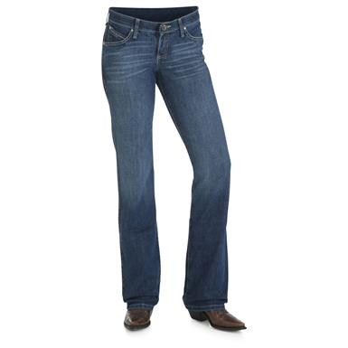Wrangler Women's Cowgirl Cut Ultimate Riding Jean, Shiloh, Mo Wash