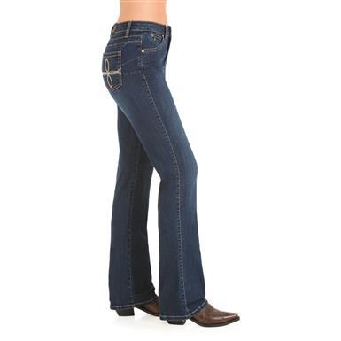 Wrangler Women's Aura Booty Up Jeans, Off Shore