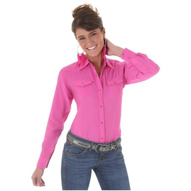 Wrangler Women's Western Riding Shirt, Pink