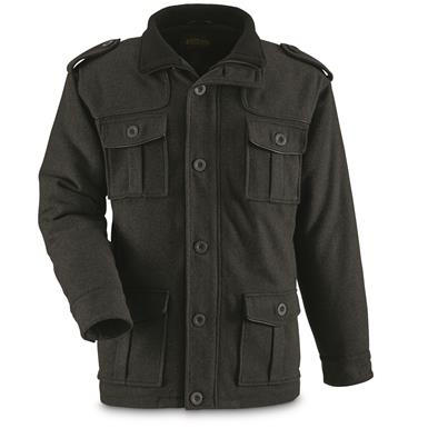 Guide Gear Men's Military Style Jacket, Charcoal