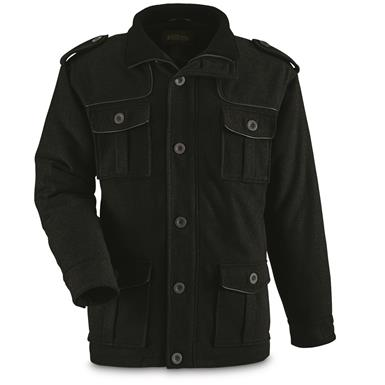 Guide Gear Men's Military Style Jacket, Black