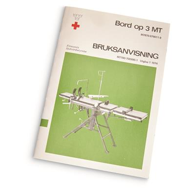 Includes manual (in Swedish) with photos and diagrams