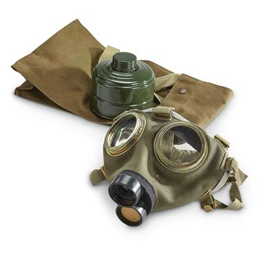 Hungarian Military Surplus Gas Mask, New