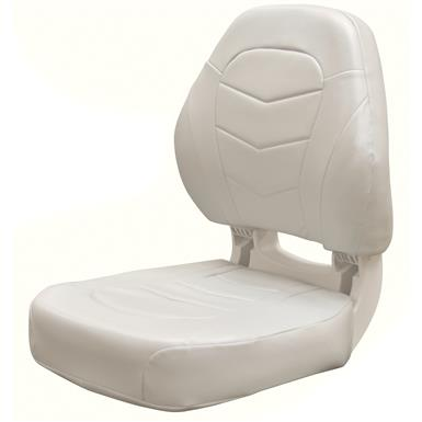 Wise Torsa Pro I - Angler Boat Seat, Color A - Cuddy Brite White