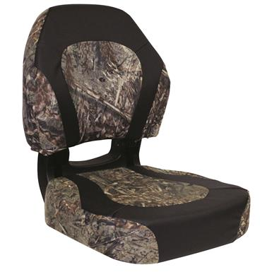 Wise Torsa Trailhawk Camo Fold-Down Boat Seat, Color A - Duck Blind-Nexus Flat Black