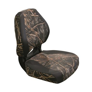 Wise Torsa Scout Camo Fold-Down Boat Seat, Duck Blind