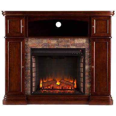 Southern Enterprises Hillcrest Electric Media Fireplace, Espresso