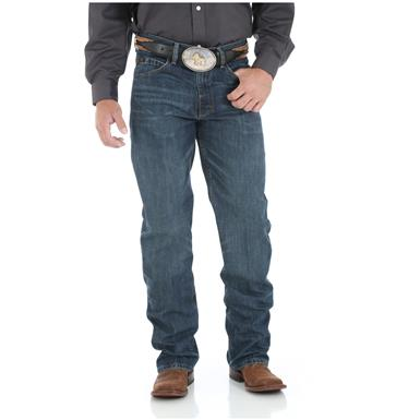 Wrangler Men's 20X 01 Competition Relaxed Jean, River Wash