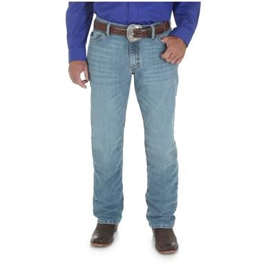 Wrangler Men's 20X 02 Competition Slim Jean, Cool Vantage, Ocean Blue