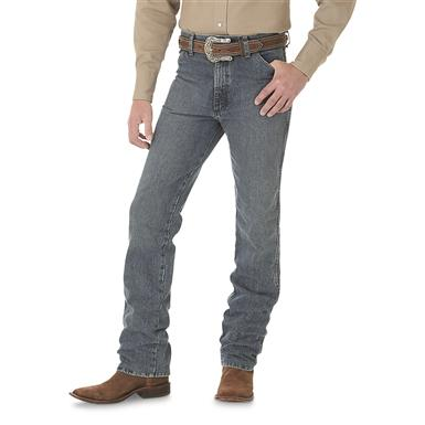 Wrangler Men's Cowboy Cut Slim Fit Jean, Rough Stone