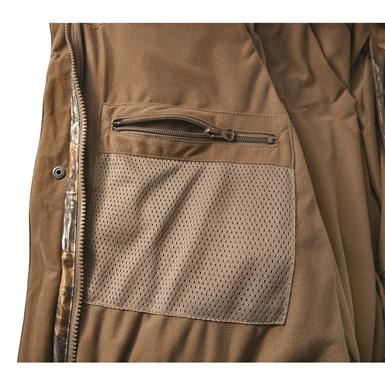 Internal zippered gear pocket