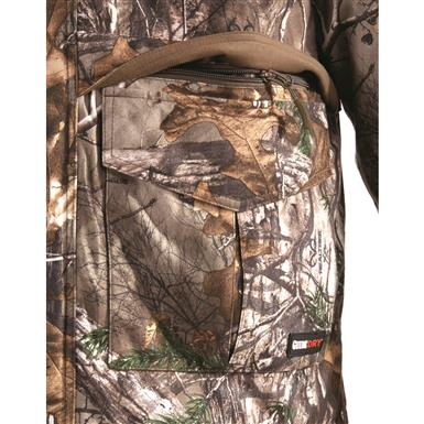 Snap-flap cargo pockets with hidden zippered pockets, Realtree Xtra