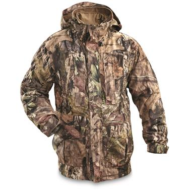 Guide Gear Steadfast 4-in-1 Hunting Parka, 150 Gram Thinsulate Platinum with X-Static, Waterproof, Mossy Oak Break-Up Country