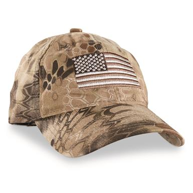 Outdoor Cap Flag Baseball Cap, Kryptek Camo, Kryptek Highlander
