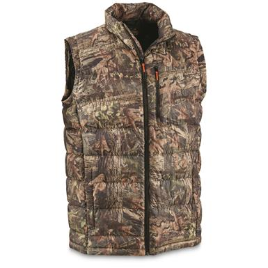 Guide Gear Men's Down Vest, Camo