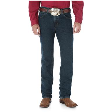 Wrangler Men's Premium Performance Advanced Comfort Cowboy Cut Slim Fit Jeans, Dark Tint