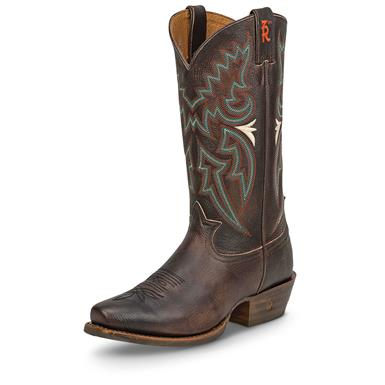Tony Lama Men's Seymour Chocolate Cowboy Boots, Brown