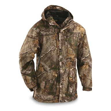 Guide Gear Men's Wood Creek Rain Parka, Realtree Xtra