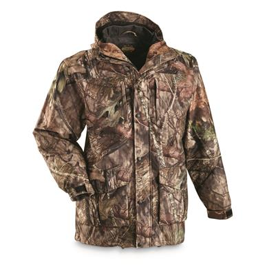 Guide Gear Men's Wood Creek Rain Parka, Mossy Oak Break-Up Country