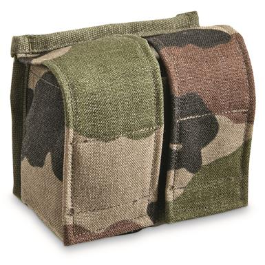 French Military Surplus CCE Camo Double Magazine Pouches, 2 Pack, Like New