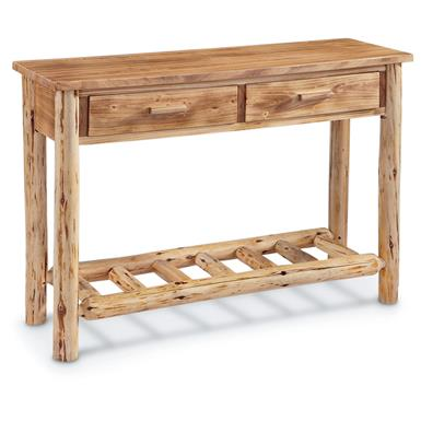 CASTLECREEK Log Sofa Table