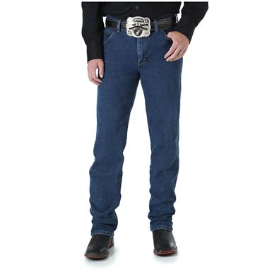 Wrangler Premium Performance Advanced Comfort Cowboy Cut Regular Fit Jeans, Mid Stone