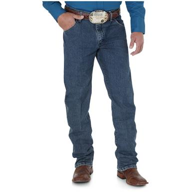 Wrangler Premium Performance Advanced Comfort Cowboy Cut Regular Fit Jeans, Mid Tint
