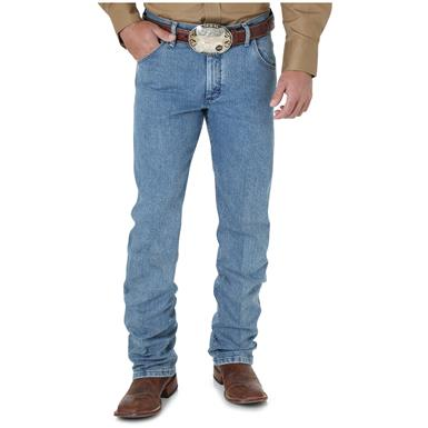 Wrangler Premium Performance Advanced Comfort Cowboy Cut Regular Fit Jeans, Stone Bleach