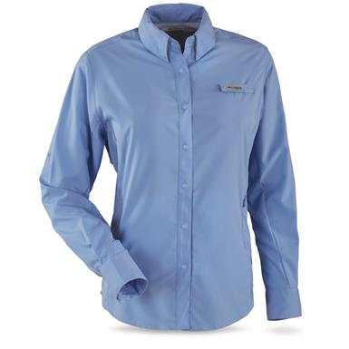 Columbia PFG Women's Tamiami II Long Sleeve Shirt, White Cap