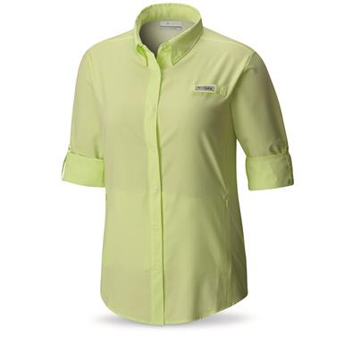 Columbia PFG Women's Tamiami II Long Sleeve Shirt, Spring Yellow
