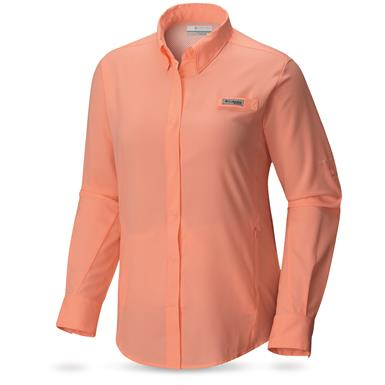 Columbia PFG Women's Tamiami II Long Sleeve Shirt, Tiki Pink