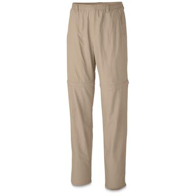 Columbia Men's UPF Backcast Convertible Pants, Fossil