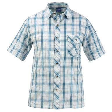 Propper Men's Covert Button-Up Short Sleeve Shirt, Mallard Plaid