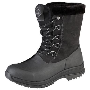 Muck Boot Women's Arctic Apres Lace Winter Boots, Black / Charcoal