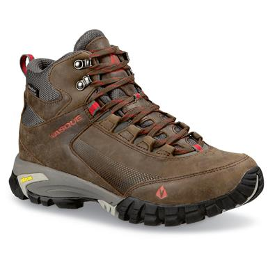 Vasque Men's Talus Trek Waterproof Hiking Boots, Slate / Chili Pepper, Slate/Chili Pepper