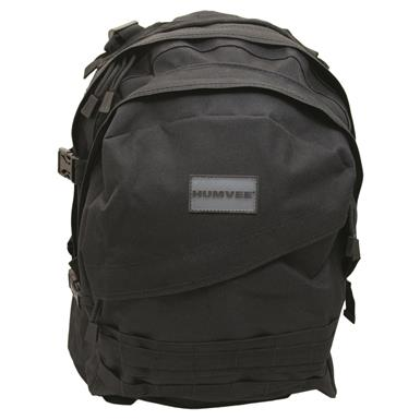 Humvee Day Pack Gear Bag, Black