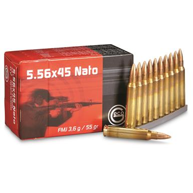 GECO, .223 (5.56x45mm), FMJ, 55 Grain, 50 Rounds