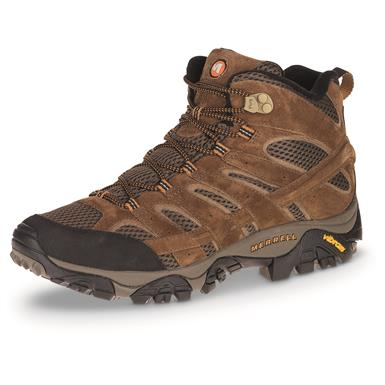 Merrell Men's Moab 2 Waterproof Mid Hiking Boots, Earth