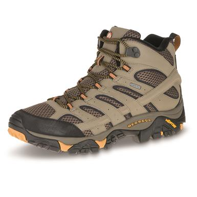 Merrell Men's Moab 2 GORE-TEX Waterproof Mid Hiking Boots, Walnut