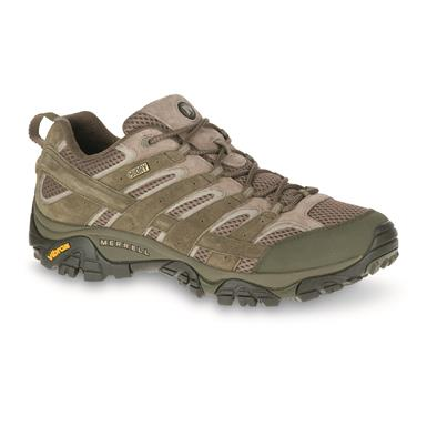Merrell Men's Moab 2 Waterproof Hiking Shoes, Dusty Olive