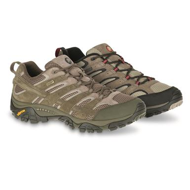 Merrell Men's Moab 2 Waterproof Hiking Shoes, Dusty Olive   (YW2