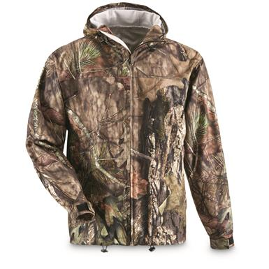 Guide Gear Men's Shadow Ridge Packable Rain Jacket,  Mossy Oak Break-Up Country