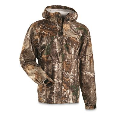 Guide Gear Men's Shadow Ridge Packable Rain Jacket, Realtree Xtra