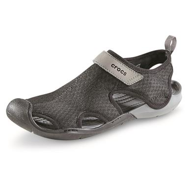 Crocs Women's Swiftwater Mesh Sandals, Black