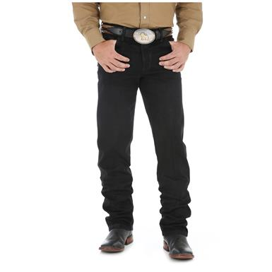 Wrangler Men's Premium Performance Cowboy Cut Jeans, Black