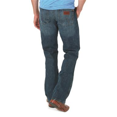 Wrangler Retro Slim Fit Boot Cut Jeans, River Wash