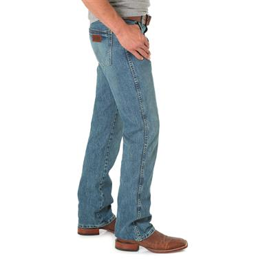 Wrangler Retro Slim Fit Boot Cut Jeans, Worn In